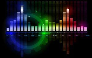 Music Audio Glowing Spectrum